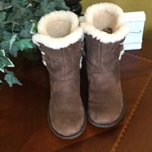 UGG Brown Akadia Short Split Shaft Boots
